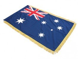 australian flag with fringe