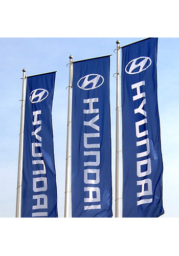 car flags and banners
