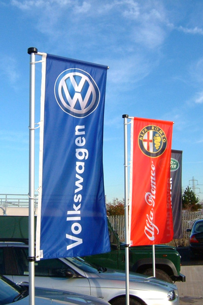 Custom automotive flags