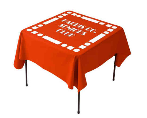 custom printed logo tablecloths: ultimate personalised décor