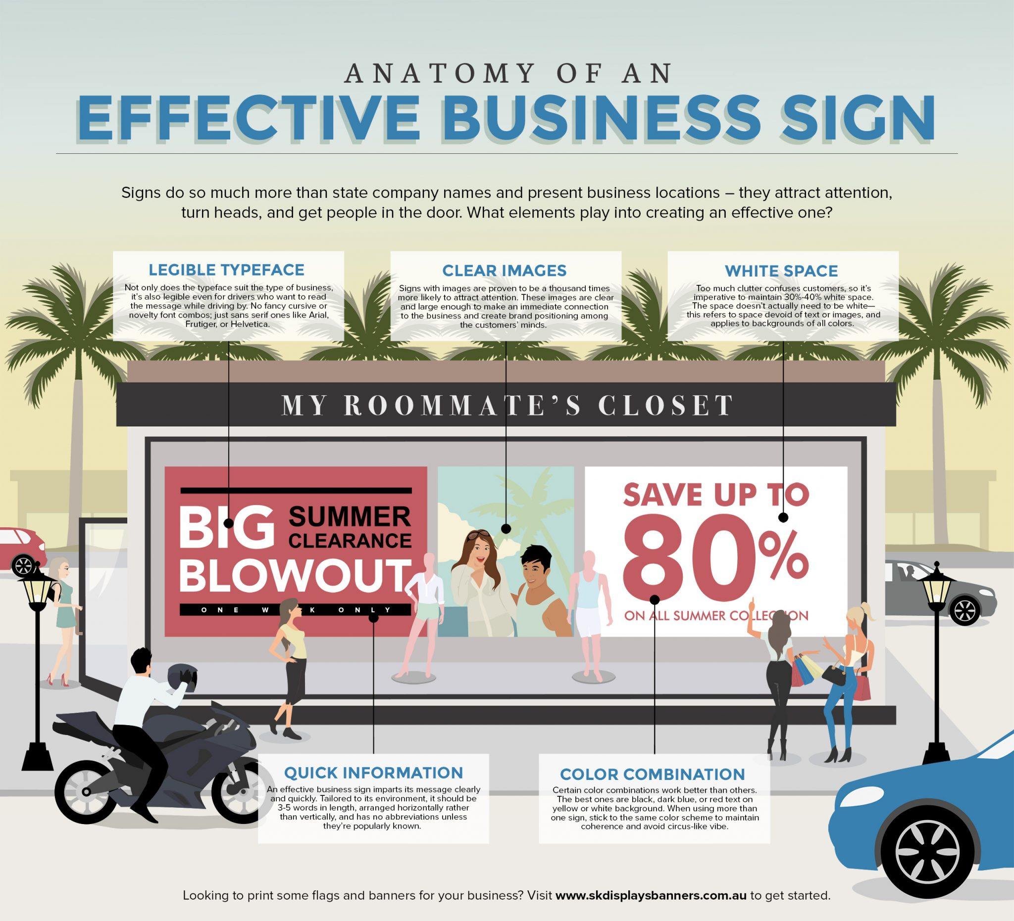 an infographic about effective business signs