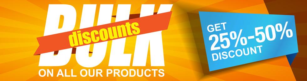 Fabric print bulk discounts banner