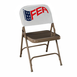 Chair slip with logo printed