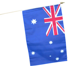 hand waver flags australia