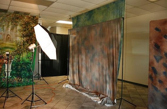 Studio backdrops photography